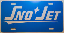 Vintage 60's SnoJet Snowmobile Logo Novelty License Plate