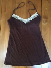 Womens Abercrombie & Fitch Sleeveless Spaghetti Strap Blouse Shirt S Brown