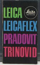 Leica Leicaflex Pradovit Trinovid Dépliant / Brochure 1969 Français 12 pages