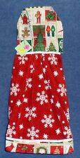 **NEW** Holiday Stamps & Snowflakes Hanging Kitchen Fridge Hand Towel #1158