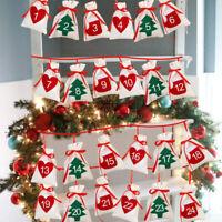 Adventskalender Weihnachtskalender XMAS zum Befüllen Selbst Säckchen Deko