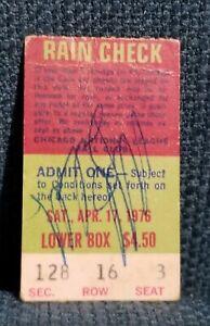 Autographed Mike Schmidt 4 Homerun Game Wrigley Field Ticket Stub April 17 1976