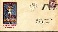 1932 SUMMER OLYMPIC GAMES BENNETT CACHET FDC MACHINE ADDRESSED