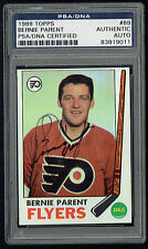 Bernie Parent #89 signed autograph auto 1969 Topps Hockey Card PSA Slabbed