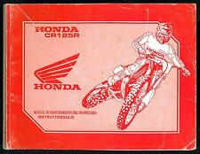HONDA CR 125 R 1992 Manual de Mantenimiento Propietario Taller Instructieboekje