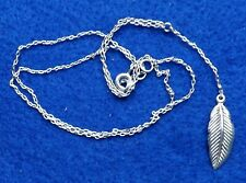 Sterling Silver Necklace With Feather Pendant