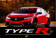 HONDA CIVIC Type R JDM Car Windshield Vinyl Banner Decal Sticker