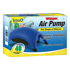 Tetra Whisper 20-40 Air Pump Gallon Aquarium Fish Tank Whisper Filter Efficient.