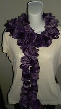 ruffle scarf- purple shimmer
