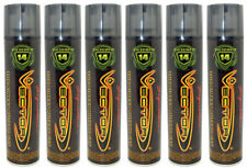 6 Cans Vector Quintuple Refined The Finest Butane Gas Fuel 320 ml 14 Filtered
