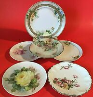 ANTIQUE PLATES SET OF 6 NIPPON GERMANY VIENNA AUSTRIA COLLECTIBLE CABINET PLATES