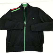 LYLE AND SCOTT CLUB VINTAGE FULL ZIP JUMPER | BLACK | A50