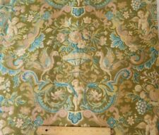 "French Antique c1870 Renaissance Style~Cherub,Fruit,Bird & Floral Fabric~80""X31"""