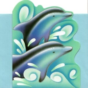 Blue Dolphin Dolphins Blank Note Cards By American Greetings