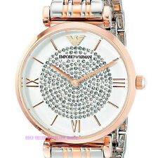Emporio Armαni AR1926 Ladies Watch Rose Gold White Silver 5 Year Warranty Thin