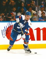 CALVIN DE HAAN signed NEW YORK ISLANDERS 8X10 photo w/ COA