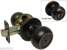 Dark Oil Rubbed Bronze Privacy bedroom bathroom Round Door Knob Handle Lock