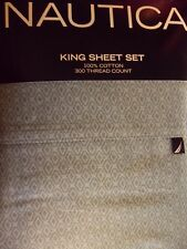 NEW NAUTICA STARBOARD BLUE 4 PIECE KING  SHEET SET