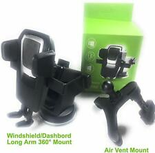 Weststone 2 Sets Phone car Mount Holder, Dash/Windshield and Air Vent,Long Neck