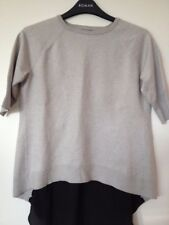 Used Karen Millen Grey and black woman Top, Size USA 2
