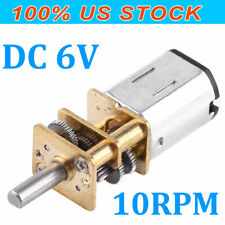 DC 6V 10 RPM High Torque Low Speed Electric Gear Motor 12mm with Gearwheel New