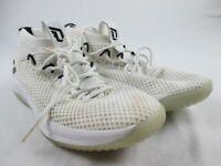adidas Dame 4 - White/Black Basketball Shoes (Men's 15) - Used