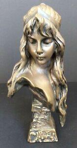 Emmanuel VILLANIS Carmela Bust Sculpture IL