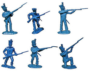 BMC Alamo Mexicans - 12 figures in 6 poses - 54mm plastic toy soldiers