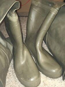 Converse Hodgman Mens River Fishing Rubber Boots Green Sz 11 EUC