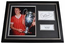 Phil Neal Signed FRAMED Photo Autograph 16x12 display Liverpool Football COA