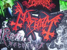 The True Mayhem Red Logo Shape Patch Dead Morbid Black Metal