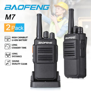 2X Baofeng Handfunkgerät  Walkie Talkie Sprechfunkgeräte Set two-Way Radio BF-M7