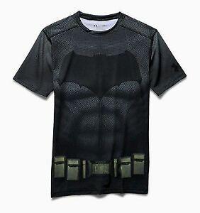 Under Armour Alter Ego Batman Compression Shirt Men's Black Grey Sportswear Top