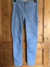Ladies size 10 blue denim high waisted super skinny petite jeans NEW LOOK