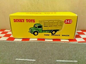 Dinky Toys 343 RARM PRODUCE WAGEN EMPTY Repro box ONLY  NO TRUCK