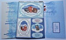 Kanban Christmas Animal Buddies Die Cut Foiled Toppers,Card, Insert Kit 54430
