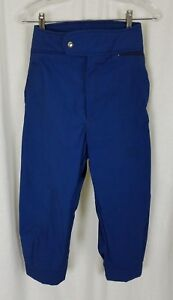 Vintage LL Bean Blue Cotton Winter Outdoor Ski Knickers Cropped Pants Womens 10
