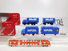 CN288-0,5 #2x Herpa H0 / 1:87 Truck Mercedes: 811166 Weigl +826052 M & M,VG Box