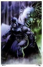 BATMAN & JOKER NYCC ART PRINT  - JIM LEE & ALEX SINCLAIR S&N LTD EDITION 100/100