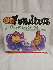 Vintage Rare Intex Air Furniture Jr Chair & Love Seat Set 1999 Sealed