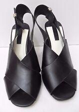 Womens Dorothy Perkins Black Sling Back High Heel Sandal - Size UK 4 EUR 37