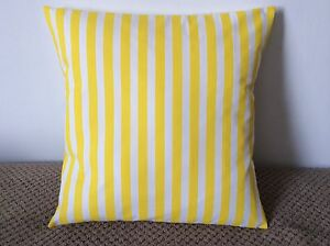 """NEW 16"""" YELLOW & WHITE CUSHION COVER PILLOW BED SOFA MORE SIZES AVAILABLE"""