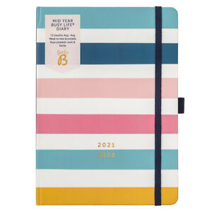 Busy B Mid-Year Busy Life Diary Stripe   Aug 21-Aug 22   Weekly Dual Schedule
