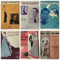 Lot Vintage 30s Sheet Music Art Nouveau Deco Fox Trot Roberta Moonlight Savings