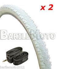 N°2 Copertone / Pneumatico 24 x 1.95 (53 - 507) BIANCO + N°2 Camere Bici MTB