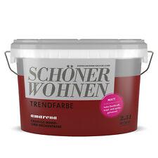 SCHÖNER WOHNEN Trendfarbe Wandfarbe Deckenfarbe amarena 2,5 l