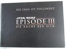 STAR WARS - EPISODE III - DIE RACHE DER SITH - Presseheft