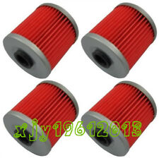4 Pack oil filters for 1993 - 1996 Kawasaki KLX650 KLX650R