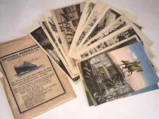 Antique HAMBURG AMERIKA LINE Cruise Ship w/ 18 Postcard Portfolio of Germany