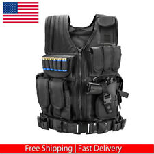 Tactical Vest Military Plate Carrier Molle Police Airsoft Combat Assault Gear US